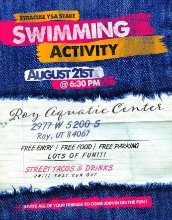 Stake Swimming Activity